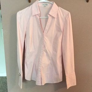 Express Design Studio Women's Pink Button Down Top